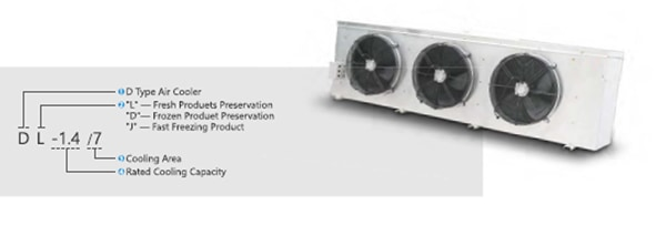 D TYPE AIR COOLER WITH ELECTRIC DEFROSTING